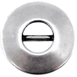 Kralen DQ schuiver rond Antiek zilver