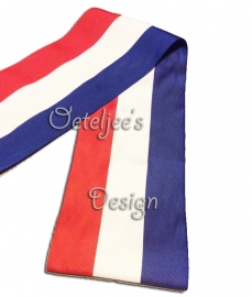 Vlaggenlint Holland rood wit blauw 150 mm