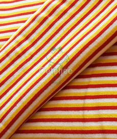 Boordstof Oeteldonk rood wit geel