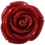 Kraal roos 11 mm Diep koraal rood