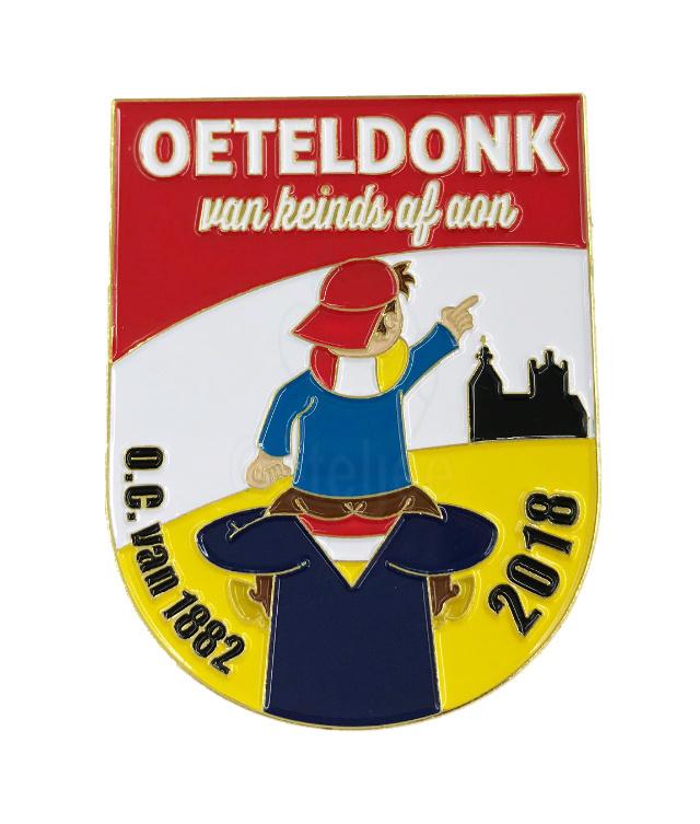 """Pin Oeteldonkse Club 2018 """"Van keinds af aon"""""""