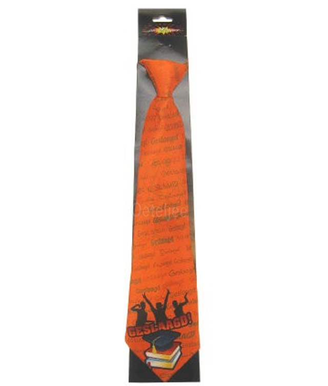 Geslaagd stropdas oranje