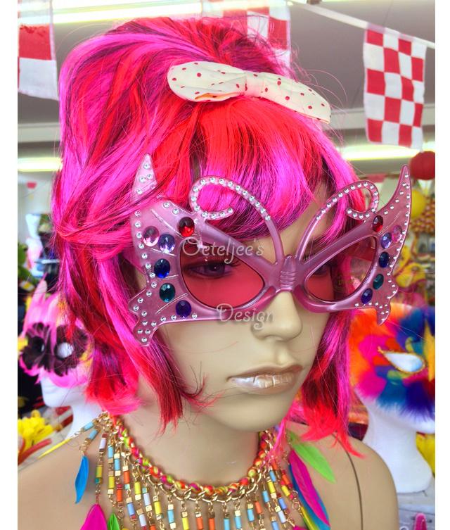 Edna vlinder bril roze