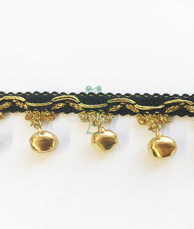 Belletjesband goud