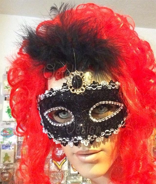 Venetiaans oogmasker barok zwart