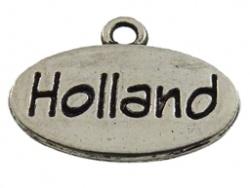 Bedel - Metaal oudzilver met tekst Holland