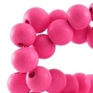Houten kraal 8 mm fuchsia pink