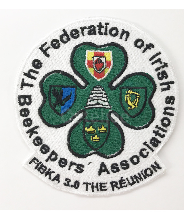 Borduren emblemen voor The Federation of Irish Beekeepers Associations