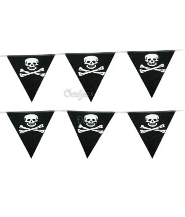 Vlaggenlijn piraat doodshoofd met botten