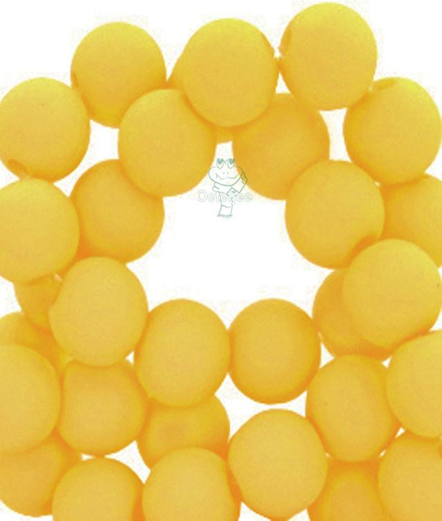 Acryl kralen mat rond 8mm  geel