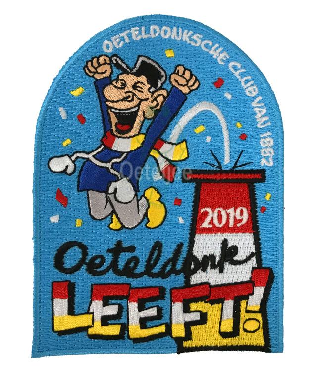 """Embleem Oeteldonksche Club 2019 """"Oeteldonk leeft!"""" groot"""