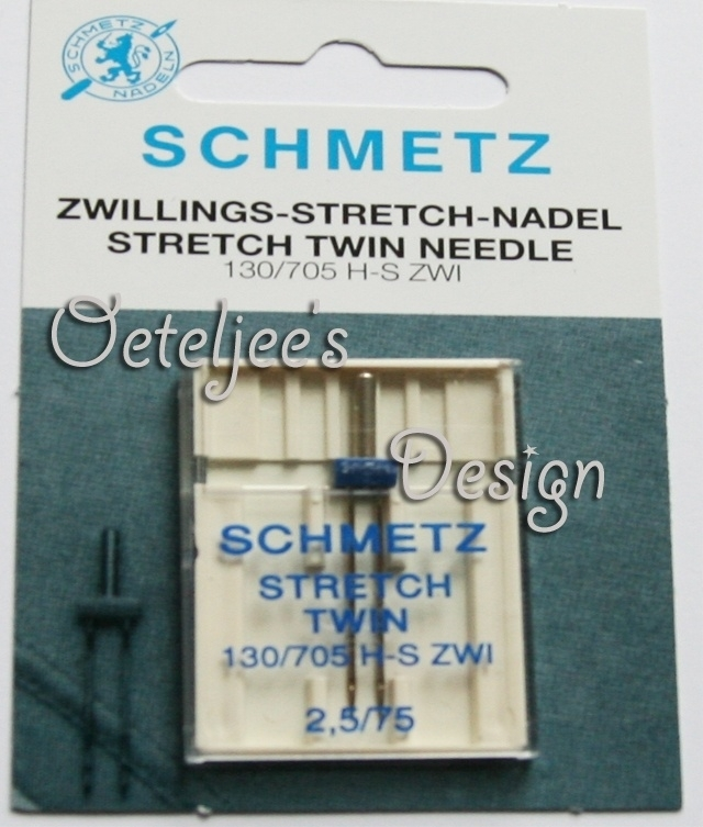 Machinenaalden Schmetz Stretch tweelingnaald 2,5 /75