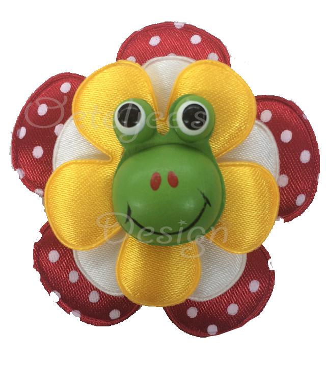 Corsage bloem Oeteldonkse kleuren met kikker