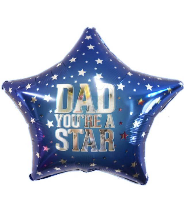 Folie ballon Dad you're a star
