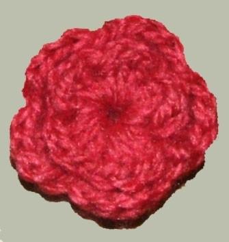 Applicaties - Gehaakt bloemetje oud roze