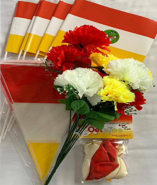 """Oeteldonk """"versier mijn huis"""" feestpakket bloem"""