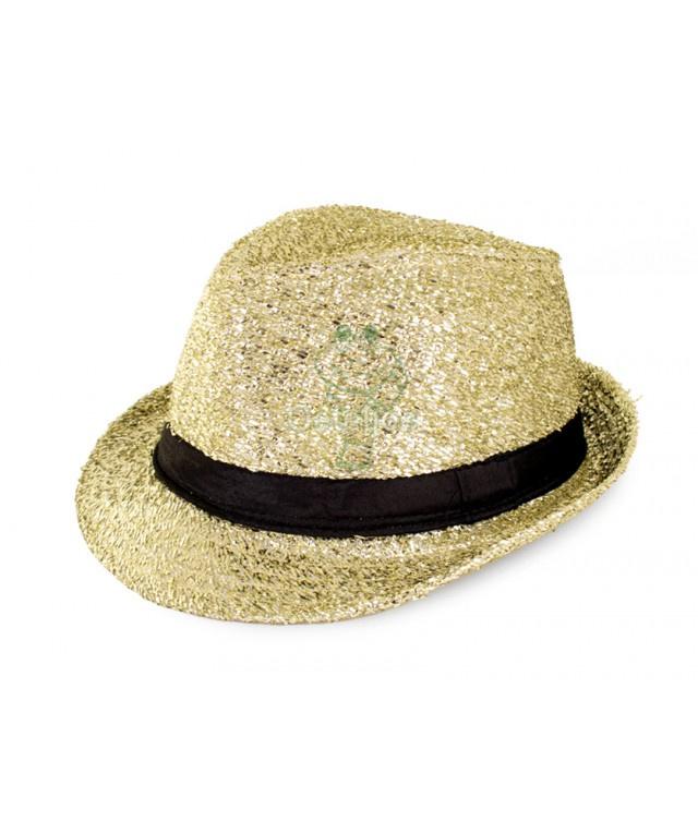 Kojak hoedje glitter goud