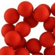 Acryl kralen mat rond 6 mm Deep red