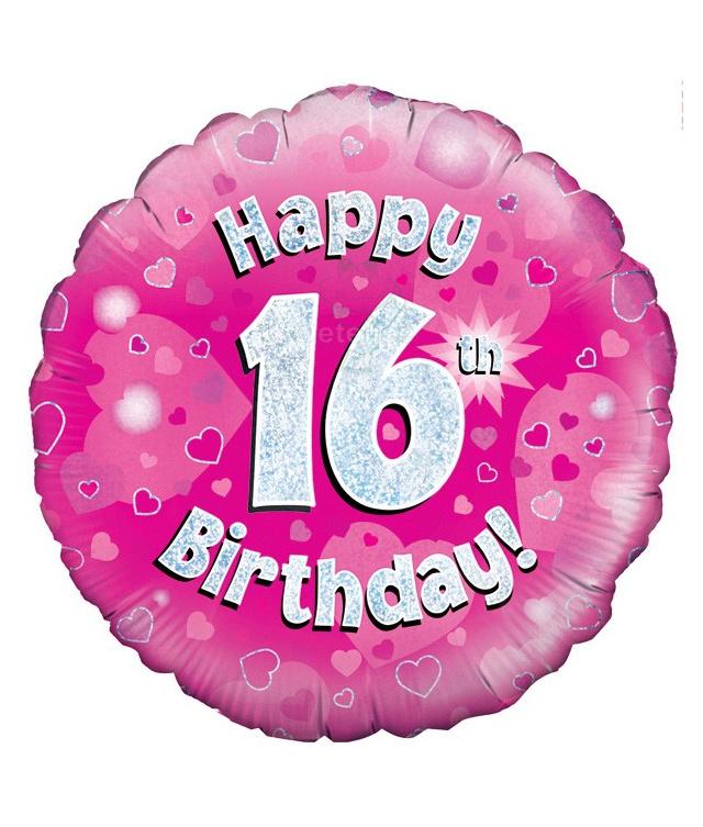 Sweet 16 folie ballon Happy 16th birthday