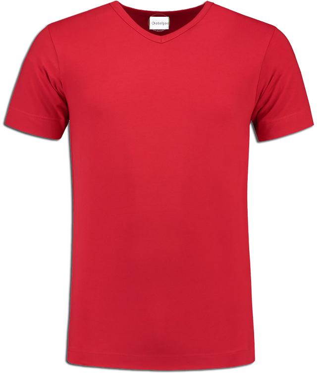 Toppers in Concert t-shirt heren rood V-hals hals korte mouw