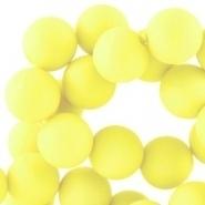 Acryl kralen mat rond 6 mm Tender yellow