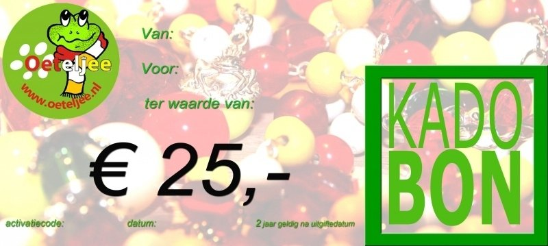 "Cadeaubon ""Oeteldonk"" t.w.v. €25,-"