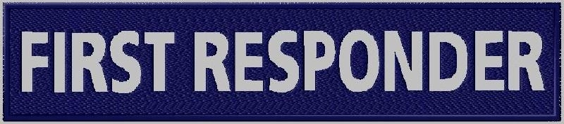Geborduurde badge First responder