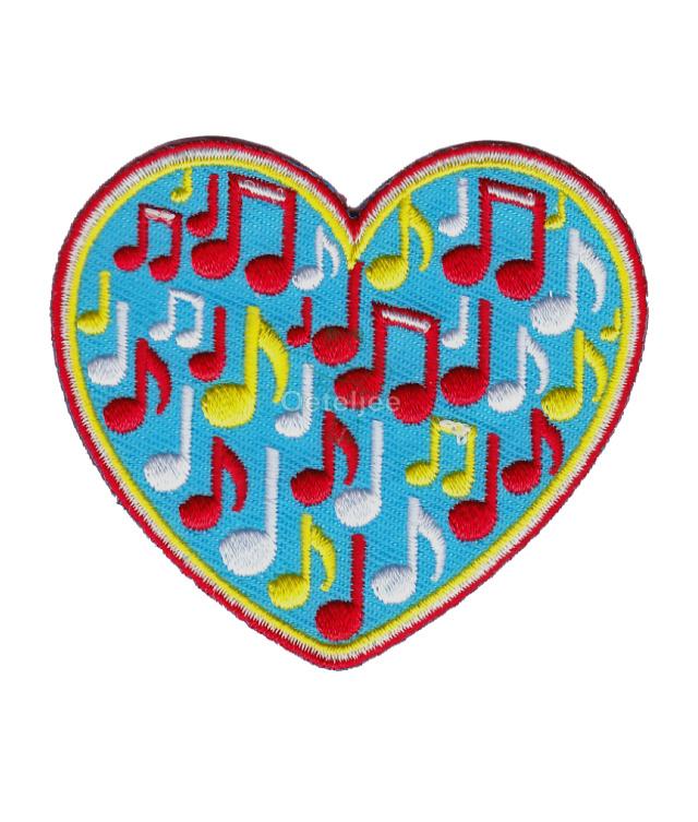 Oeteldonk embleem Oeteldonks hartje met muzieknoten