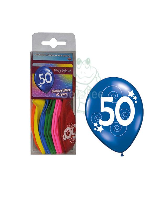 Ballonnen set verjaardag 50 jaar
