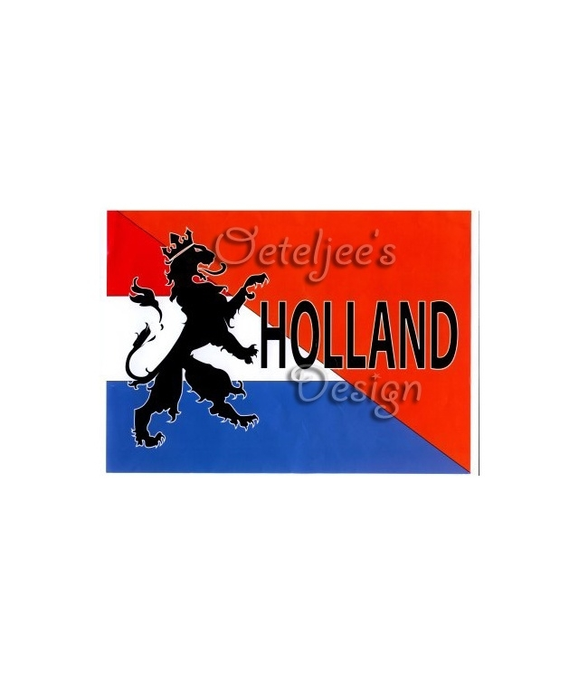 Vlag Holland retro diagonaal 90 x 150 cm