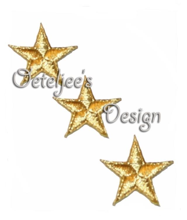 Sterretje goud applicatie opstrijkbaar (4.5 cm)