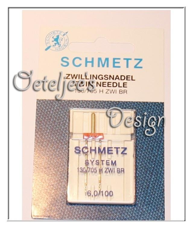 Machinenaalden - Schmetz tweelingnaald 6,0/100