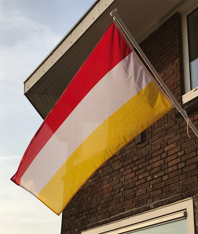 Vlag Oeteldonk rood wit geel
