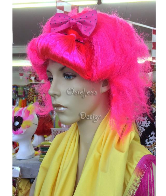 Pruik pink Dip-dye Candy crush