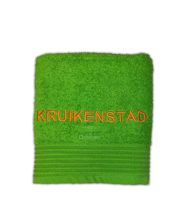 """Geborduurde handdoek """"Kruikenstad"""""""