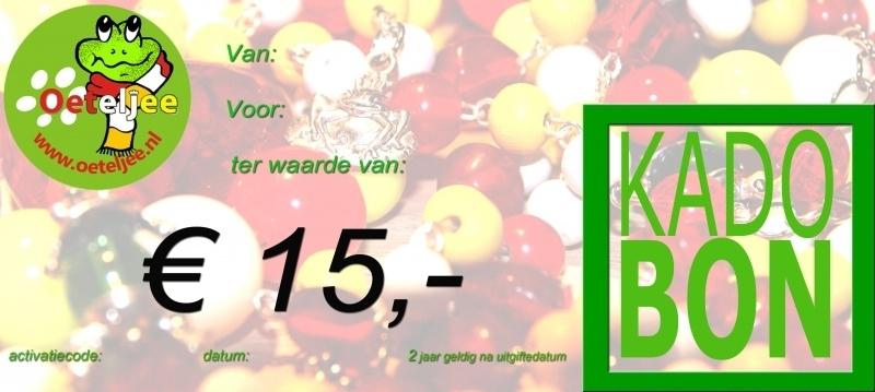 "Cadeaubon ""Oeteldonk"" t.w.v. €15,-"