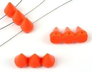 Kunststof verdelers 'studs' driedubbel oranje