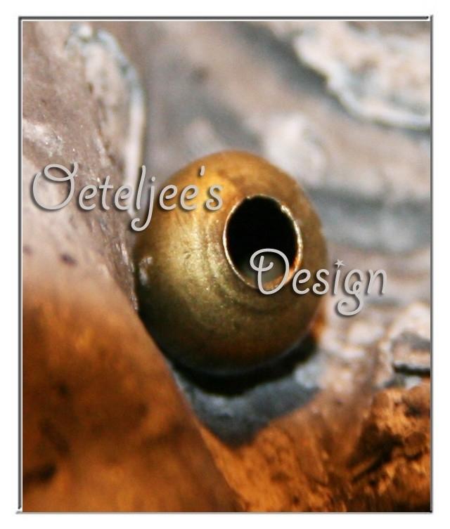 Kralen - Metaal oudbronskleur 6 mm