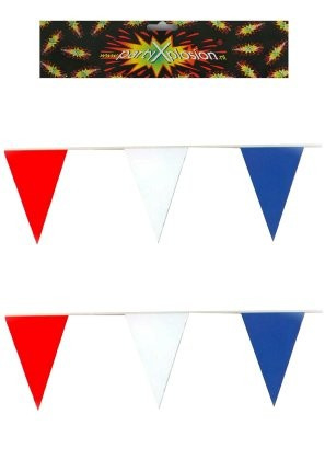 Vlaggenlijn Holland rood wit blauw 10 m
