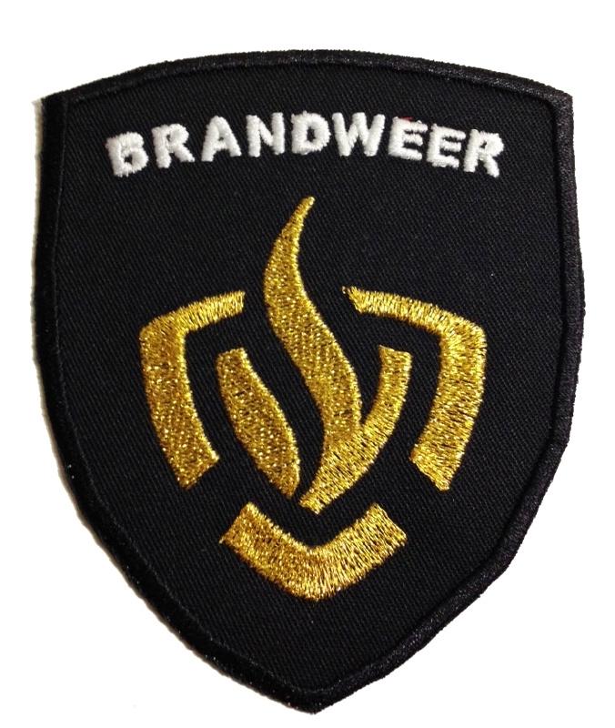 Brandweer badge logo + tekst brandweer