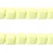 Acryl kralen facet kubus Soft lime groen