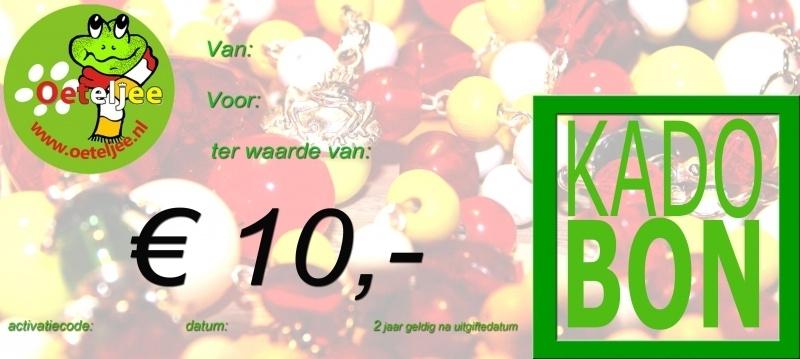 "Cadeaubon ""Oeteldonk"" t.w.v. €10,-"