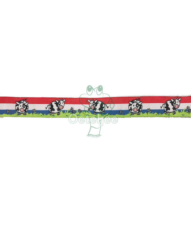Band rood wit blauw Holland met koe