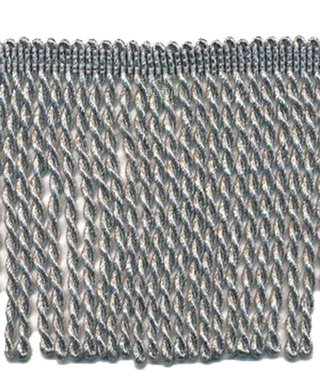 Franjeband zilver lurex 10 cm