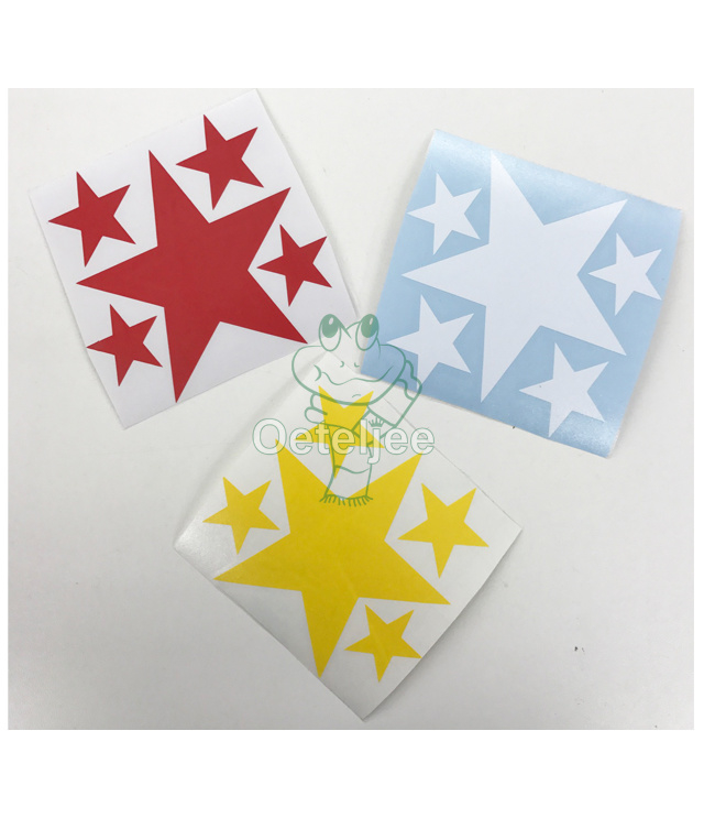 Raam/muurstickers sterren rood wit geel Oeteldonk.