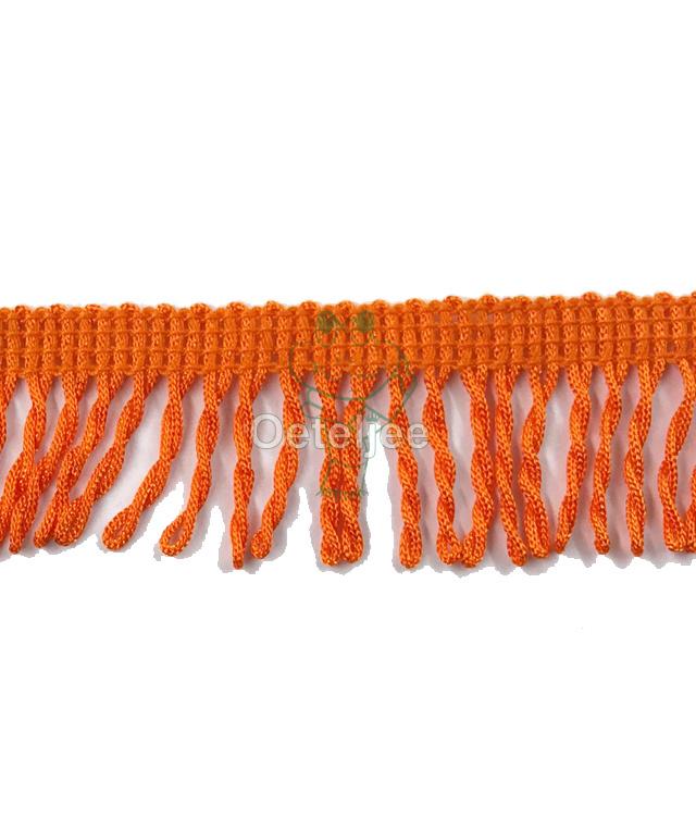 Franjeband gedraaid oranje
