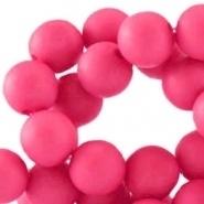 Acryl kralen mat rond 8 mm Vivacious pink