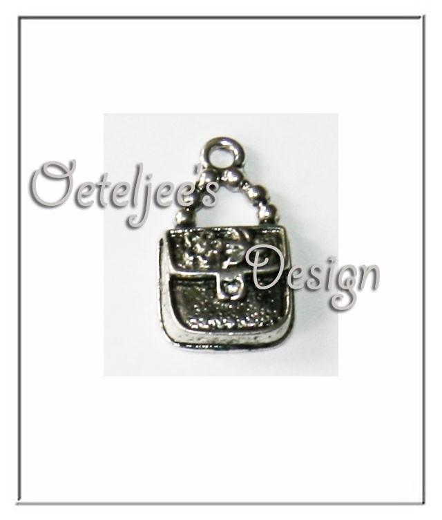 Bedel - Rechthoekig tasje metaal oudzilverkleur