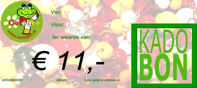 "Cadeaubon ""Oeteldonk"" t.w.v. €11,-"