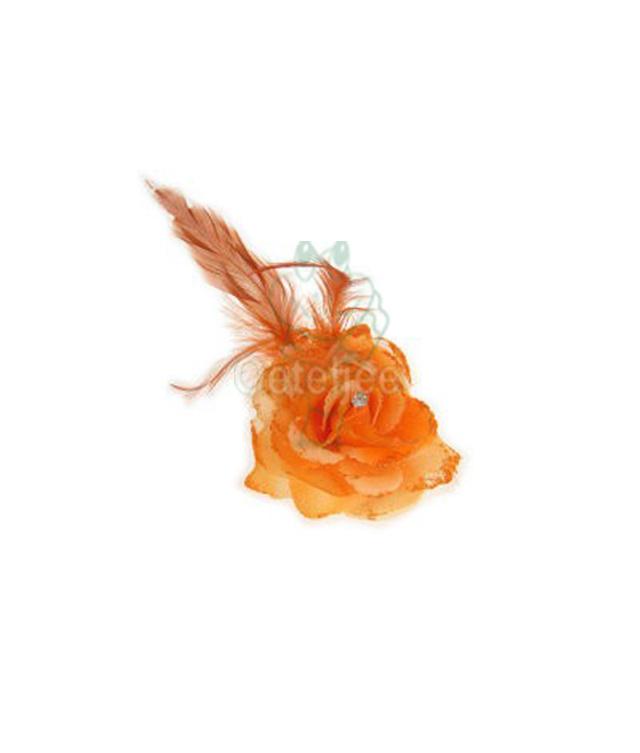 Oranje bloem op speld